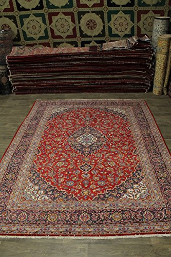 - Admin Rugs Delightful S Antique Handmade Red Kashan Persian Style Rug Oriental Area Carpet 10X13
