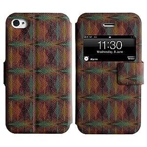 LEOCASE patrón increíble Funda Carcasa Cuero Tapa Case Para Apple iPhone 4 / 4S No.1002781