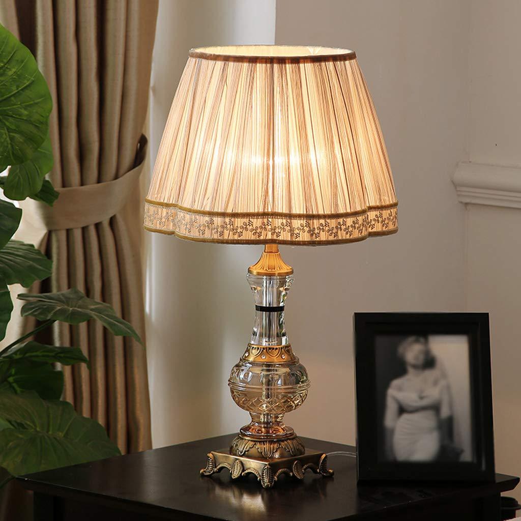 A Table lamp LáMpara De Mesa De Cristal LáMpara De Luz Nocturna ...