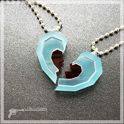 Legend of Zelda Inspired Heart Container Best Friends Necklace Set
