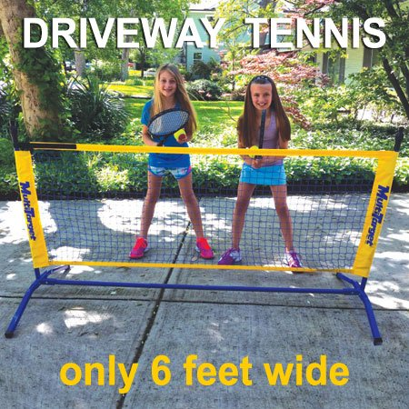Oncourt Offcourt Driveway Tennis Package - Includes One 6' Net / 2 Whistler Racquets / 6 Foam Tennis Balls by Oncourt Offcourt (Image #3)