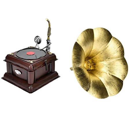 HEEPDD Modelo de fonógrafo Retro, Tocadiscos de Metal Vintage ...