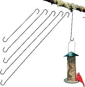 Evelots Tree Hanging Hook-Metal-11 to 24 inch-Bird Feeder/Plants-No Tool-Set/5