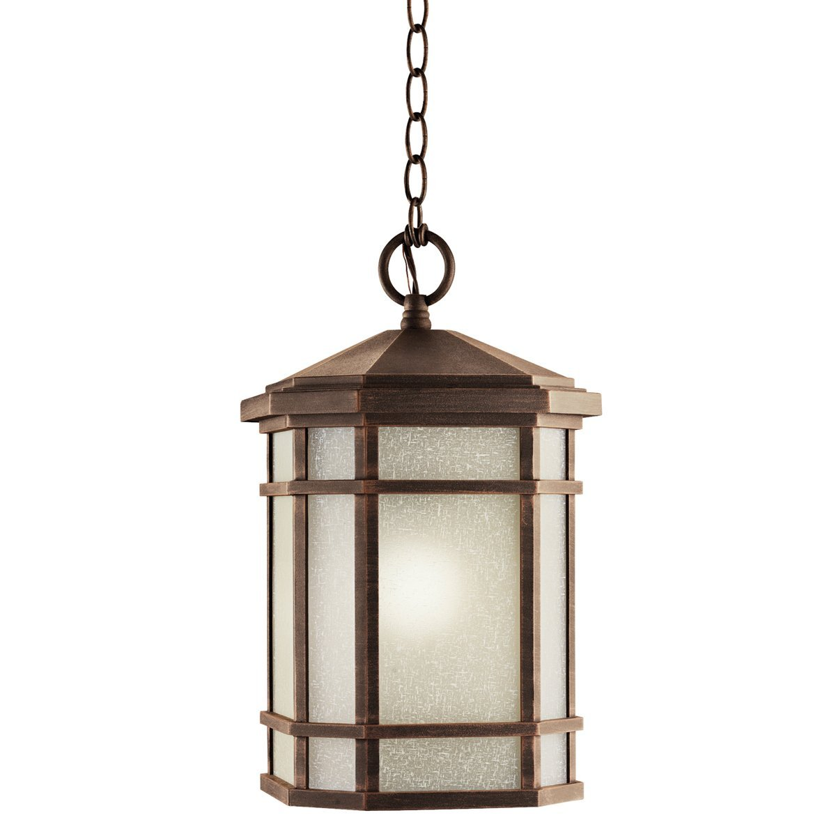 (Ship from USA) Kichler 9511PR Cameron 1 Light Outdoor Hanging Pendant in Prairie Rock /ITEM NO#E8FH4F85467233