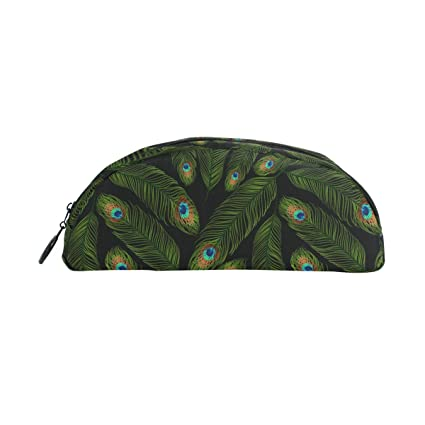 Peacock Green Feathers Purse Hanger and Pouch
