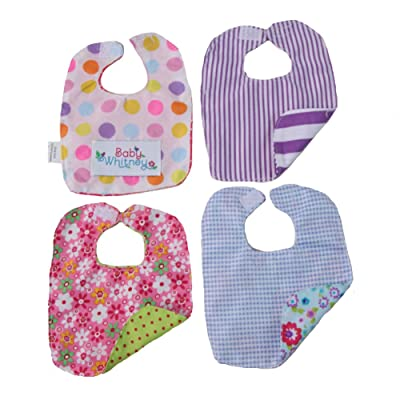 Reversible Baby Doll 4-Pack Bib Set, Assorted Colors: Toys & Games