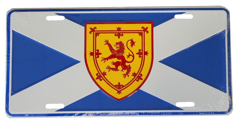Scotland License Plate (st. andrews cross with rampant lion) Dixie Seal and Stamp 867