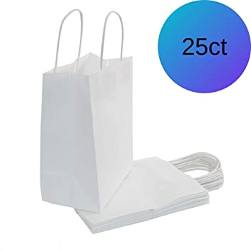 Amazon.com: WEsq - Bolsas de papel blanco de 25 ct: Health ...