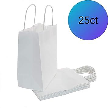 Amazon.com: WEsq - Bolsas de papel blanco de 25 ct: Health ...