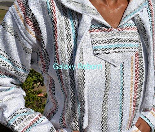 Baja-Hoodie-white-fiesta-Mexican-Drug-Rug-Pullover-Poncho-Sweatshirt