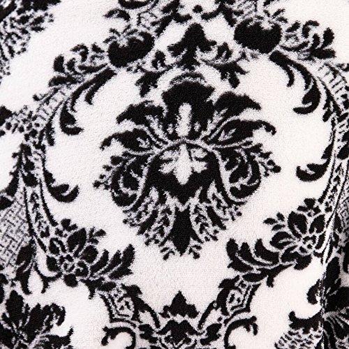 Bata para Dormir de Lana Suave Loungeable para dama en Multiples Diseños y estampados Baroque Short