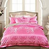 Modern Bedding Sets Duvet Cover Set Bedroom Bedding Extremely Durable & Easy Care 100% Cotton Pink Elegant Comfortable Butterfly Girl Pattern Design Queen/king Size , King
