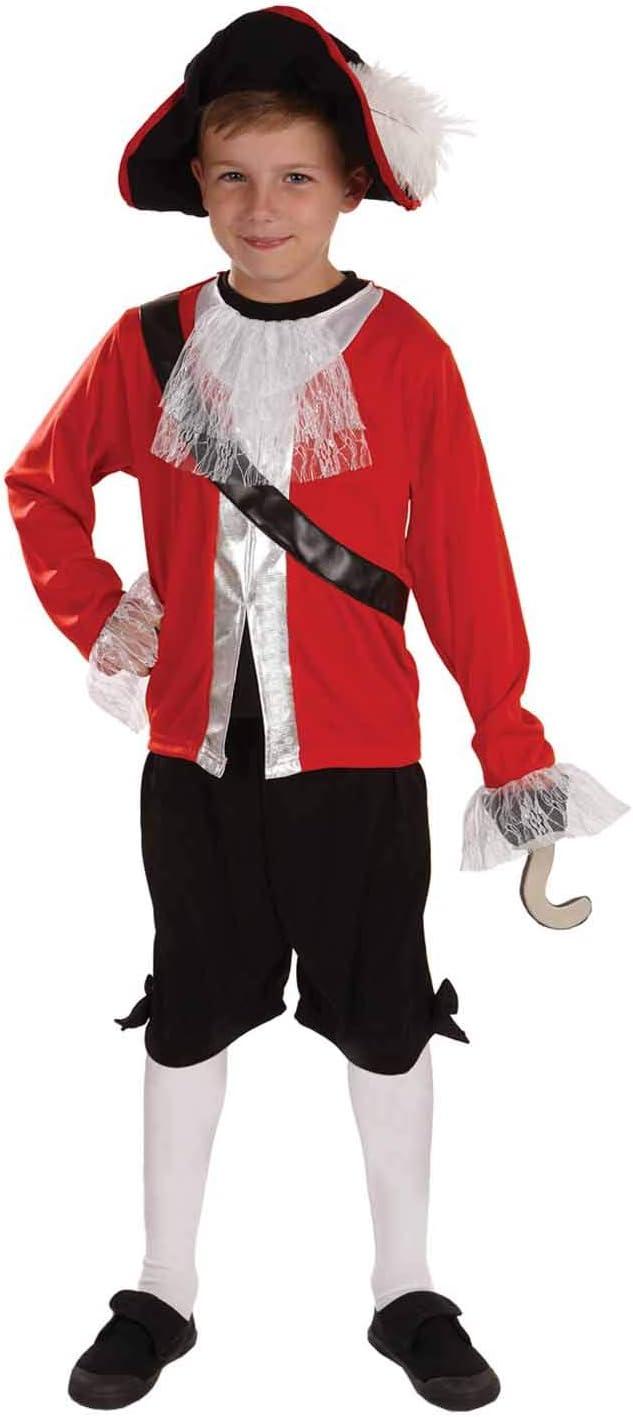 Fun Shack Rojo Capitán Pirata Disfraz para Niños - S: Amazon.es ...