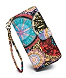 Best Wallet Styles - LOVESHE Women's New Design Bohemian Style Bifold Canvas Review