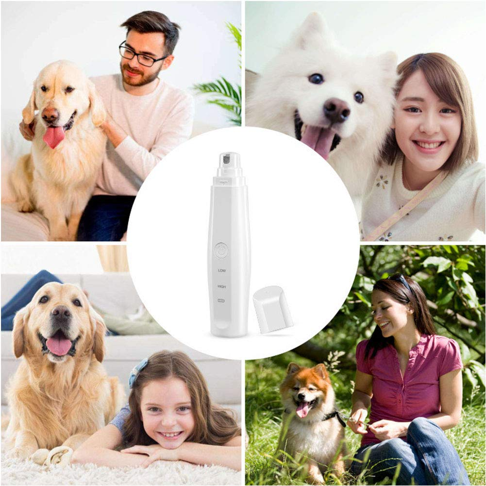 Pet Nail Grinder, with 2 Speed Adjustments,Electric Pet Nail Trimmer for Paw Grooming, Gentle Nail Clipper for Dogs Cats