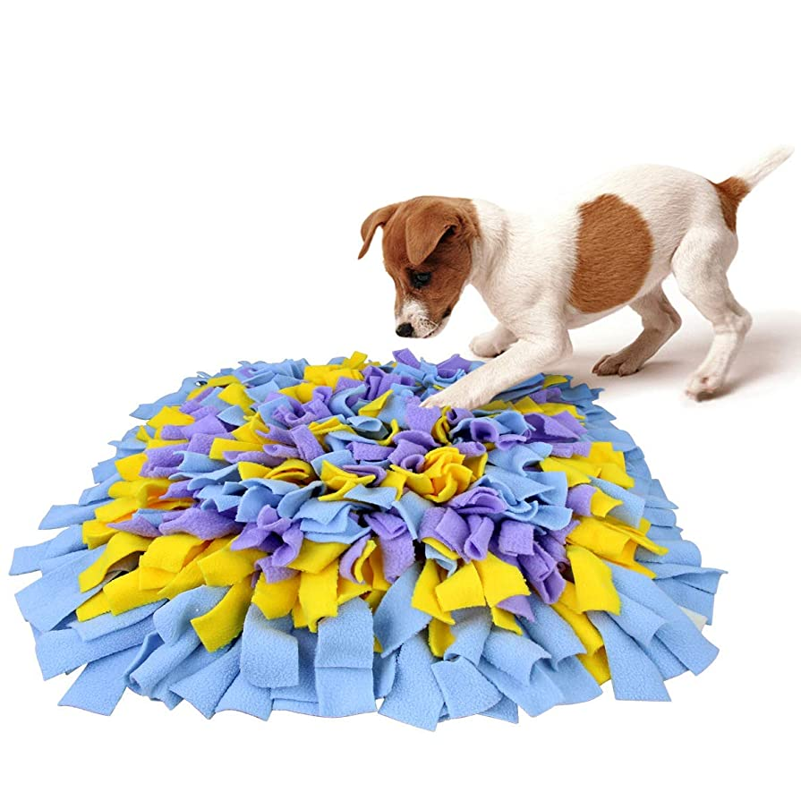 ショッキング襟ではごきげんようMIRAI 犬 猫 ペット 訓練毛布 訓練マット 餌マット 犬おもちゃ ペットおもちゃ ペット用品 知育玩具 嗅覚訓練 犬噛む 集中力向上 性格改善 運動不足 分離不安 ストレス解消 (フラワーA)
