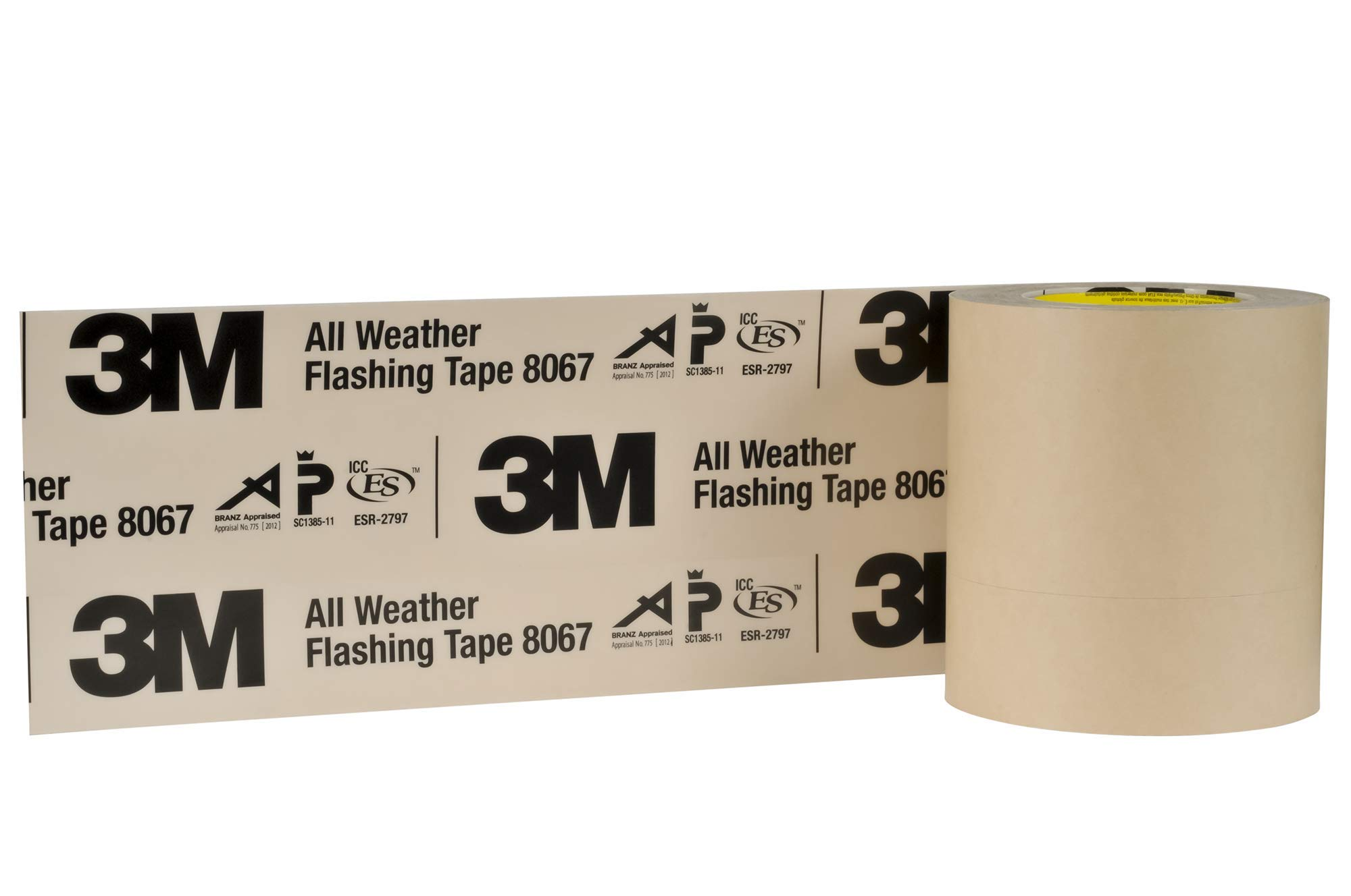 3M All Weather Flashing Tape 8067 Tan, 6 in x 75 ft Slit Liner (Pack of 1) by 3M