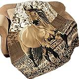 "Western Horse Soft Fleece Throw Blanket, 63""x73"""