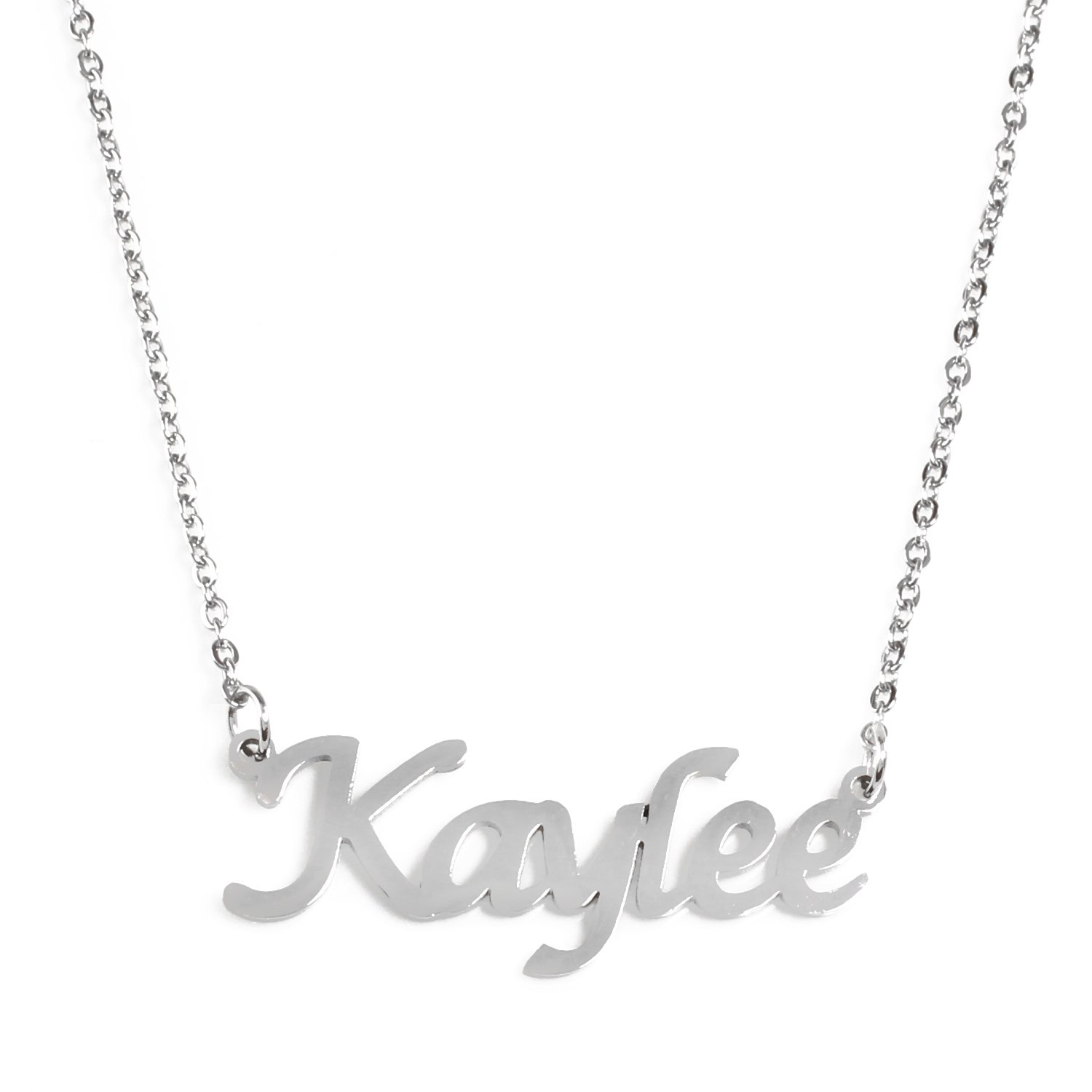Silver Tone Zacria Kaylee Name Necklace
