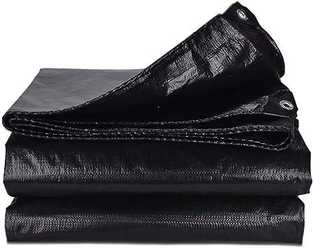 YXX-Lonas Paño de lona de lona impermeable negro for toldo de ...