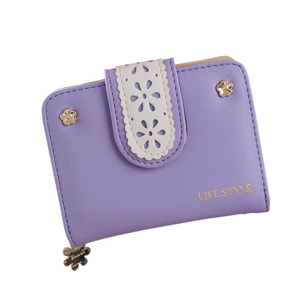 Forキュート財布、Coper ®レディース財布カードホルダーハンドバッグバッグ B01KLMPY84 パープル
