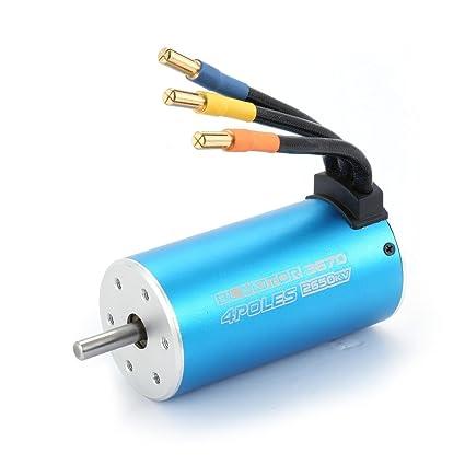 Amazon com: ShepoIseven 3670 2650KV 4 Poles Sensorless