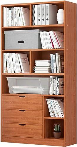 Luxurious 6 Tier Bookcase Wooden Bookshelf Display Shelf High Capacity Unit Bookshelf Easy to Assemble Floor Standing Storage Rack