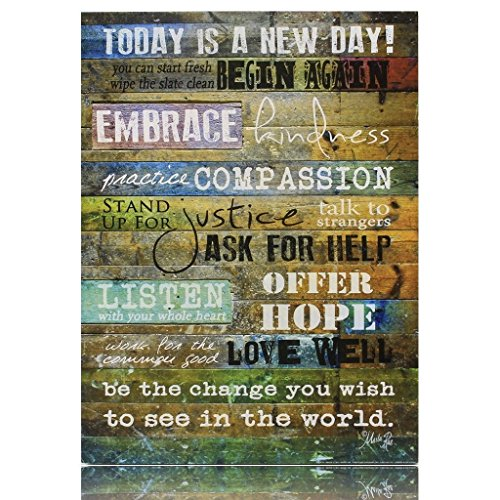 Today is a New Day Wood Wall Art Print by Marla Rae 16 x 12