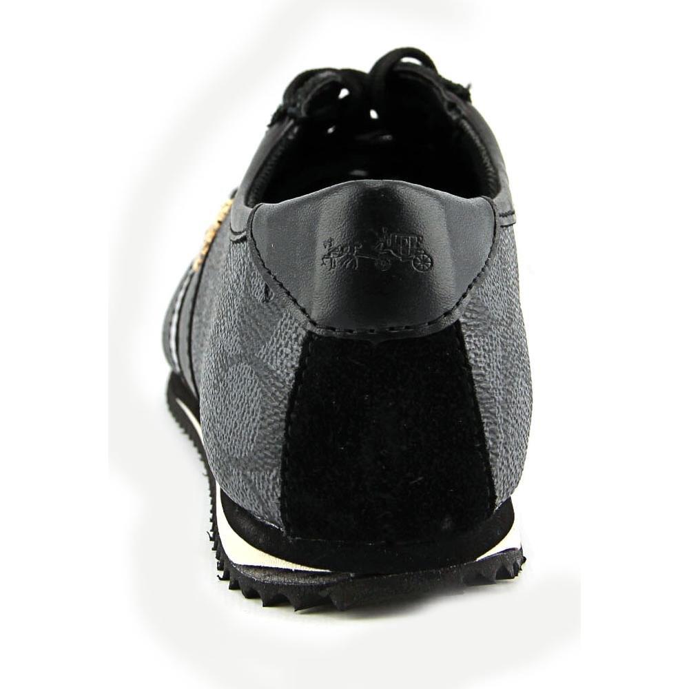 1e47c8e07c1 Coach Womens Ivy Low Top Lace up Fashion Sneakers, Black-Smoke/Black ...