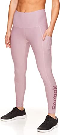 Reebok Women's 7/8 Workout Leggings w/High-Rise Waist - Performance Compression Athletic Tights