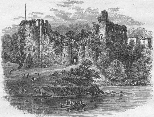 WALES Wye Chepstow Castle 1898 old antique vintage print picture