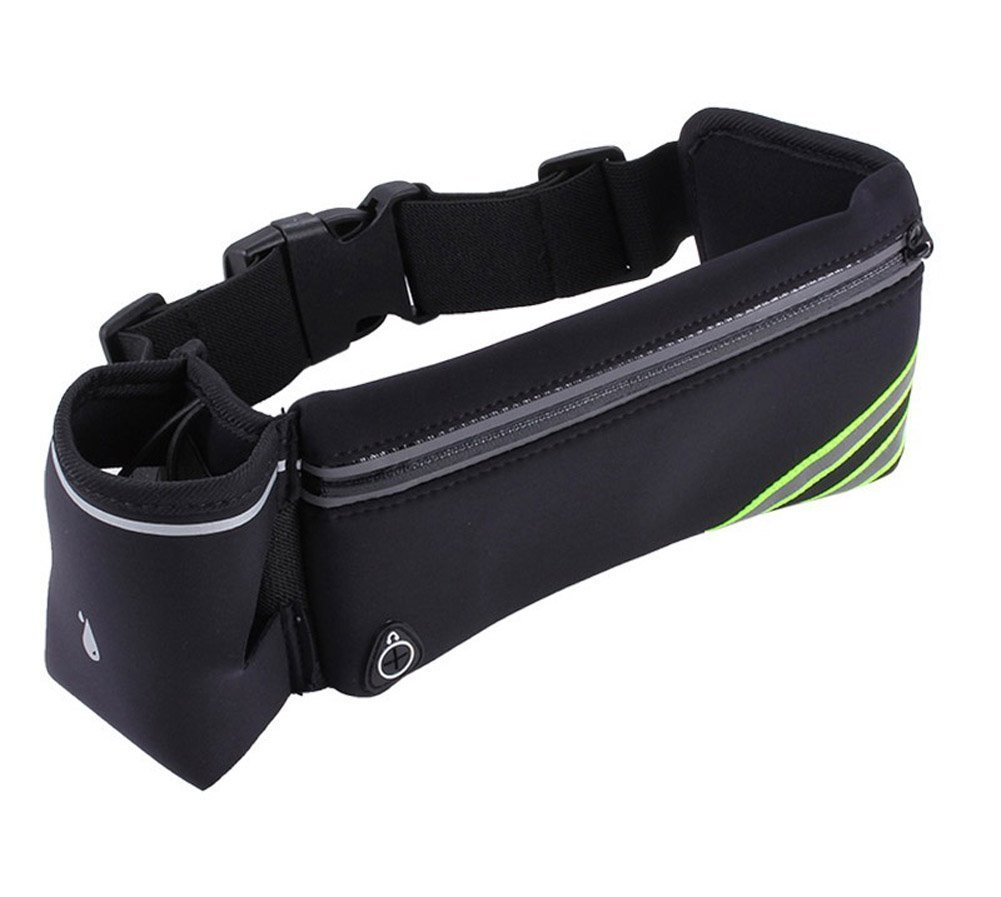Running Hydration Belt for Phone with Water Bottle Holder, Water Resistant Outdoor Travel Hiking Cycling Climbing Money Waist Bag for Men and Women by Fabmore