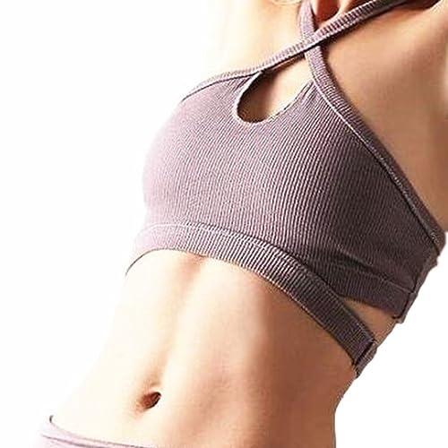 Fitness Bear Sujetador deportivo para mujer Sujetador deportivo para yoga - Sencilla - Suela deporti...