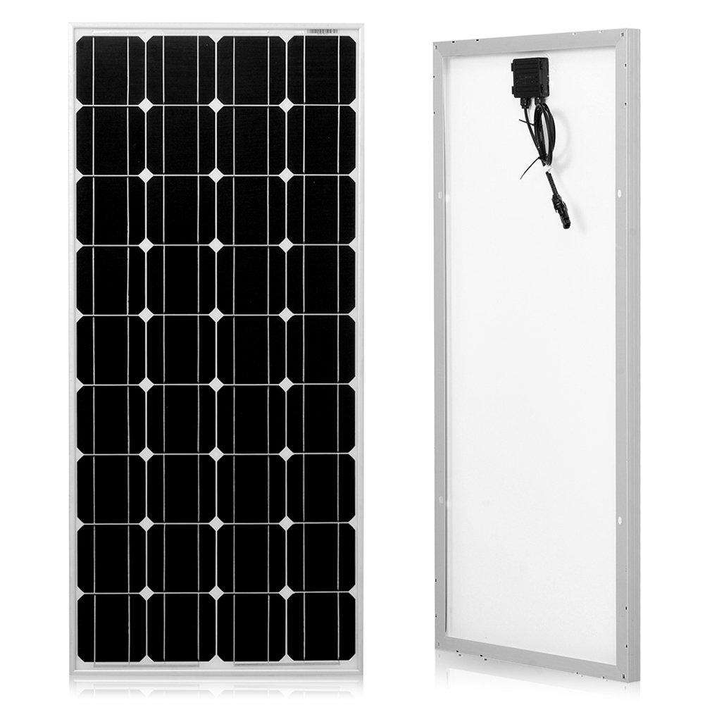 DOKIO 100 Watts 12 Volts Monocrystalline Solar Panel