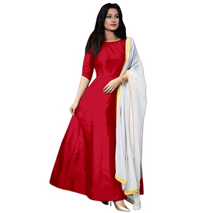 65174599f296 Royal Export Women s A-Line Maxi Dress (Red Taffeta XL Red X-Large)  Amazon. in  Clothing   Accessories