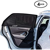 LTLKY Car Window Shades for Baby & Pets, Front and Rear Side Car Sun Shades (4 Pack)