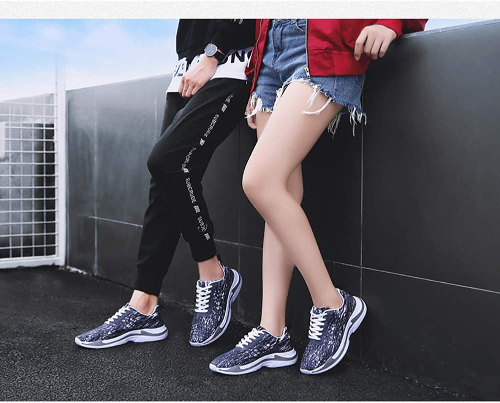 YCKZZR Femmes Air Cushion Sneakers Respirant Chaussures De Course Hommes Femmes en Plein Air Fitness Sports Chaussures Femme À Lacets Casual Chaussures Taille 36-45 Gray