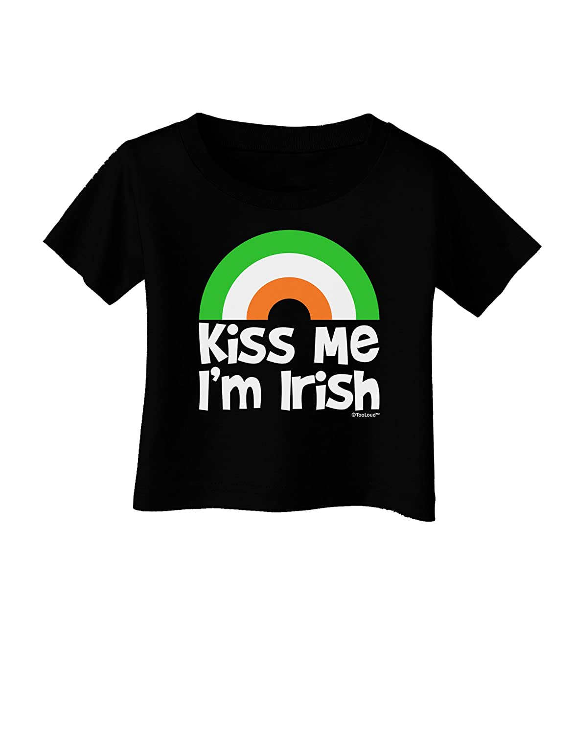 TooLoud Irish Flag Rainbow Kiss Me Im Irish Infant T-Shirt Dark