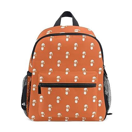 Amazon.com: Santa Hat & Beard Orange Mochila de impresión ...