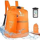 RUNACC Waterproof Dry Bag Backpack 20L Floating Dry Sack with Free Waterproof Phone Case for Beach, Kayaking, Camping…