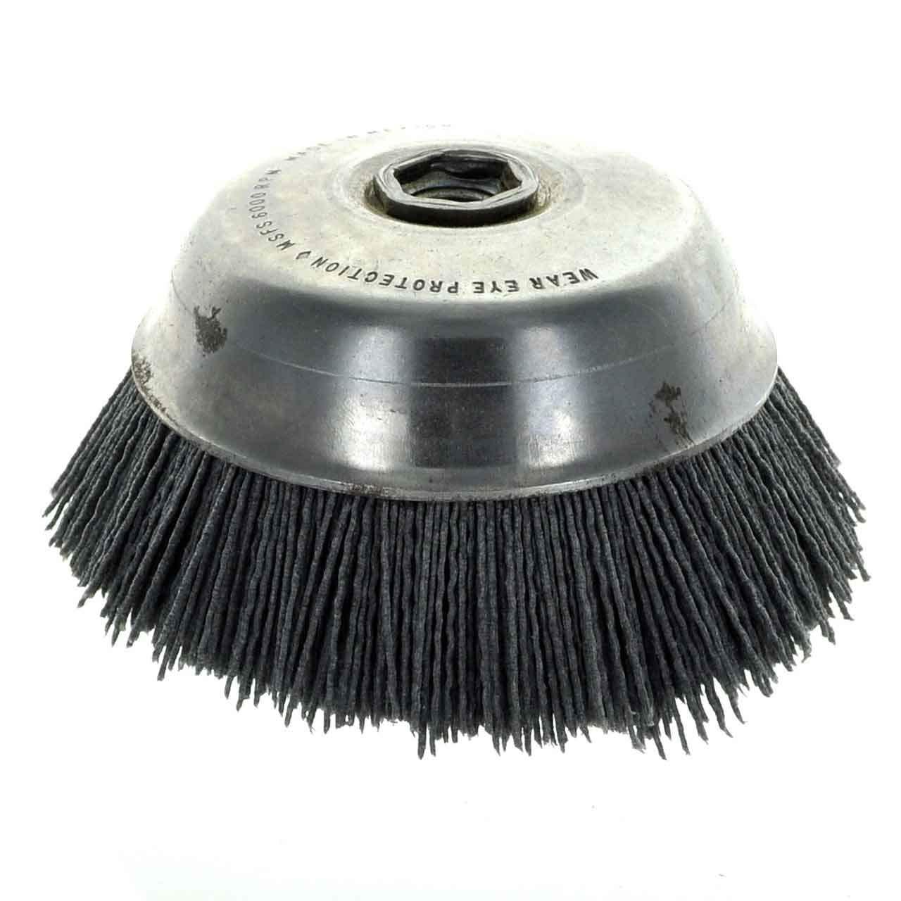 United Abrasives-SAIT 04340 6-Inch Nylon Cup Brush with 80X Grit, 1-Pack by United Abrasives- SAIT