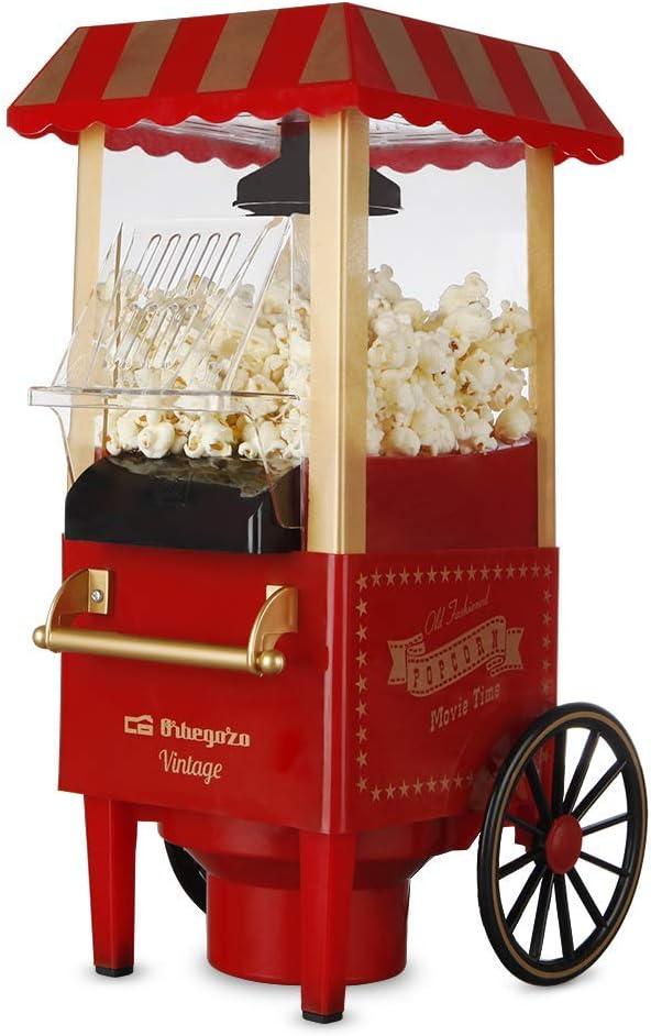 Máquinas de Palomitas Portátil Vintage Color Rojo 1200W