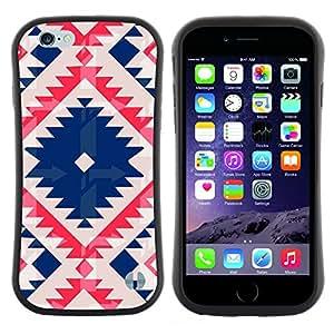"Hypernova Slim Fit Dual Barniz Protector Caso Case Funda Para Apple (4.7 inches!!!) iPhone 6 / 6S (4.7 INCH) [Nativo tribal del modelo acolchado azul""]"