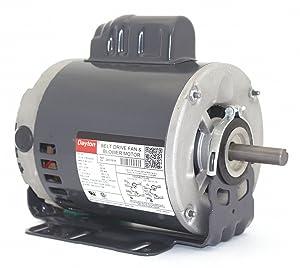 Dayton 3/4 HP Belt Drive Motor, Capacitor-Start, 1725 Nameplate RPM, 115/208-230 Voltage, Frame 56H
