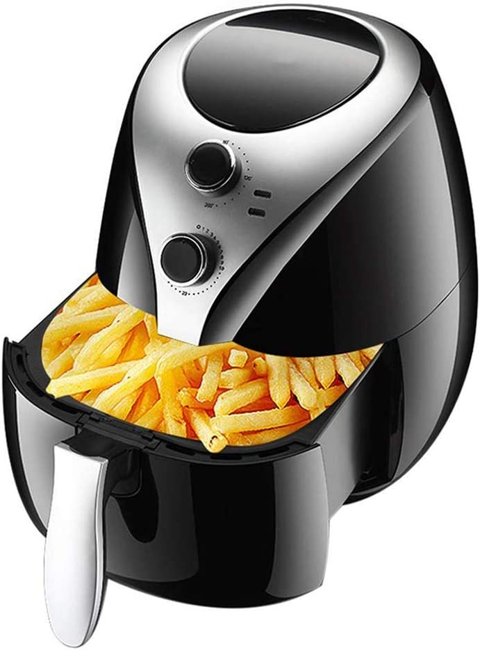Air Fryers for Home Use Air Fryer - Oil Free Healthy Cooking - Adjustable Time and Temperature Dials - Removable Dishwasher-Safe Crisper Tray,Tasty Nutritious Family Meals MZXDX