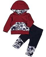 Amlaiworld Sudaderas con capucha de bebé niño niña + Pantalones Conjunto de ropa