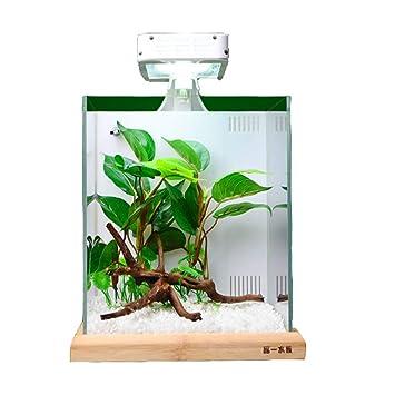 LSHUAIDJ Acuario Acuario Goldfish Tank Ultra Blanco Cilindro Filtro Trasero Cilindro Venta al por Mayor y