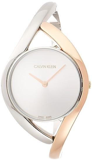lowest price 78067 462b7 Calvin Klein Orologio Analogico Quarzo Donna con Cinturino in Acciaio Inox  K8U2SB16