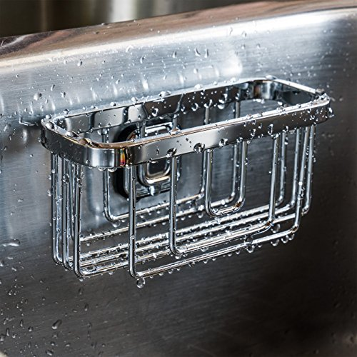 STAUBER Best Sponge Holder - Stainless Steel - Innovative Design Requires No Suction Cups - (Modern)