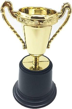 TRIXES Mini Trofeos 5 Piezas Oro Deportes Día Favorito Maestro Motivación Plástico Regalo Novedad Infantil Modelo de Premio: Amazon.es: Hogar